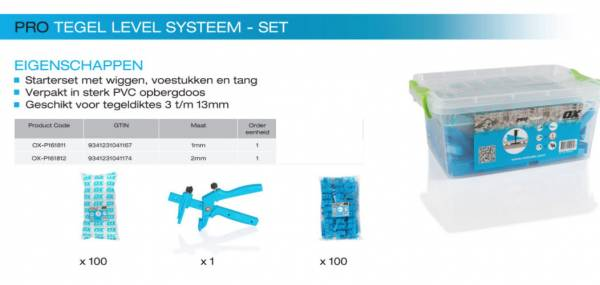 ox level systeem set